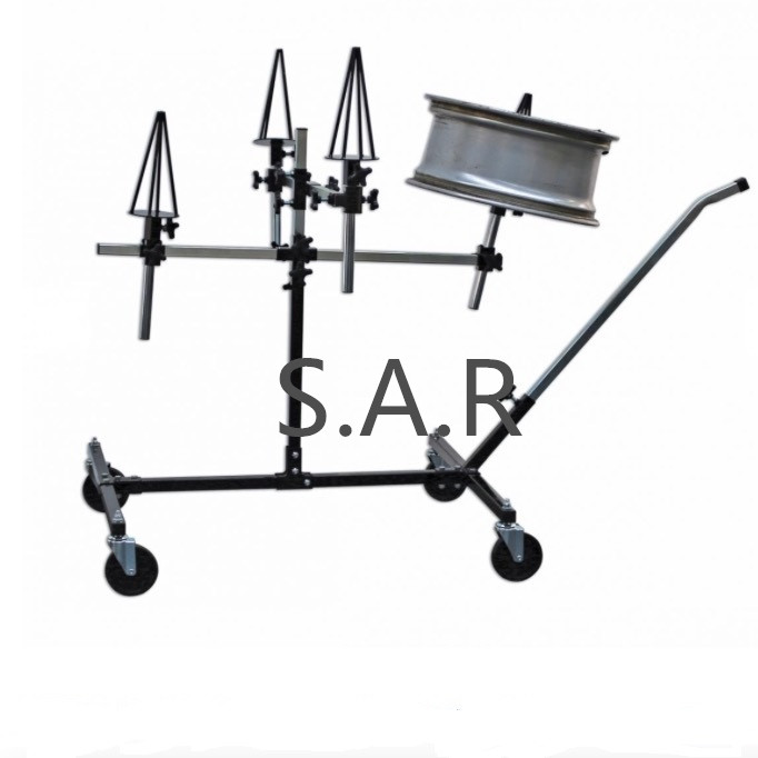【SARRPSAW】Repair/Painting  Stand - Alloy  Wheels Optional Wheel Mounts&adjustable mobile paint stand