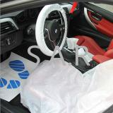 【SARSSKC】Car Auto Universal PE Disposable Transparent Seat Shift Knob Steering Wheel Cover Kit/protection kit
